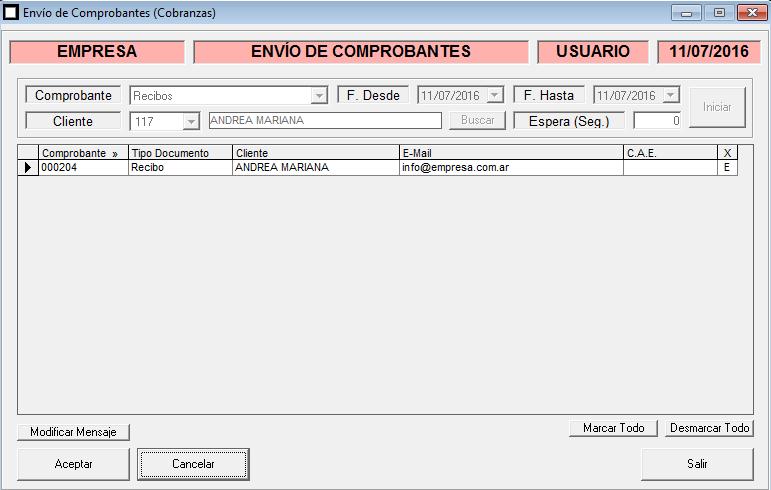 ERP Naitiva - Envio de Recibos