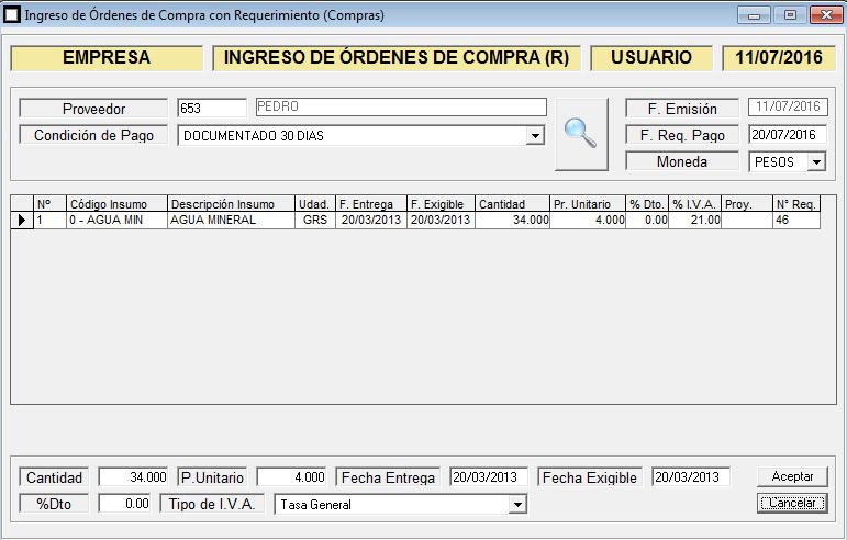 ERP Naitiva - Ordenes de Compra