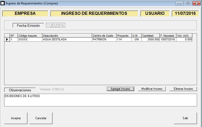 ERP Naitiva - Ingreso de Requerimientos