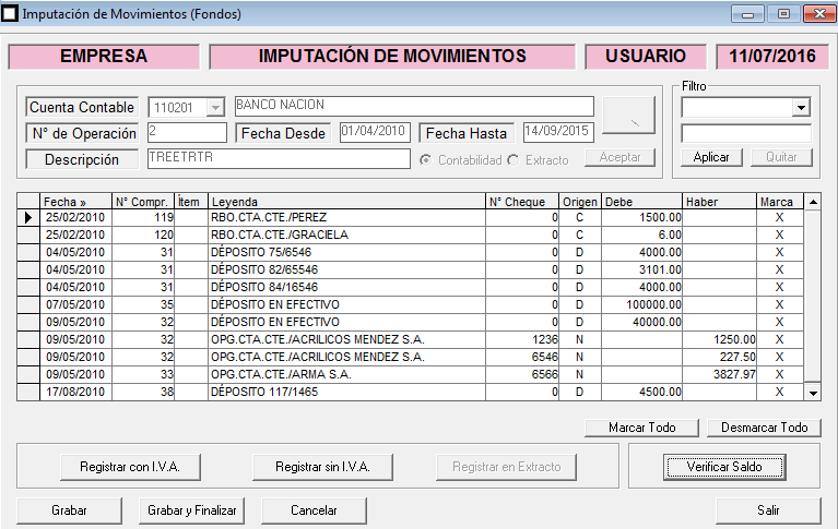 ERP Naitiva - Conciliaciones Bancarias