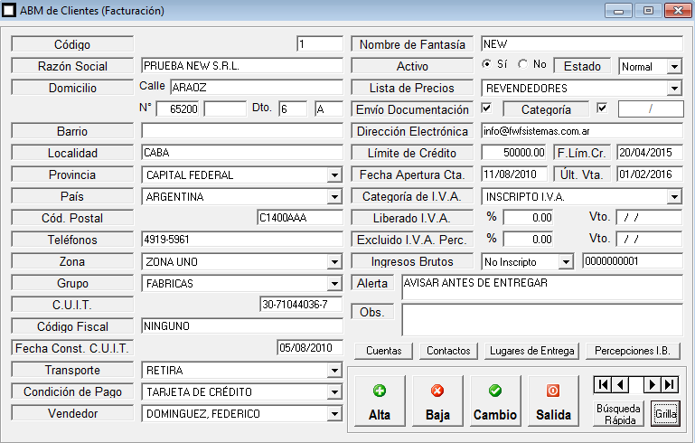ERP Naitiva - ABM de Clientes