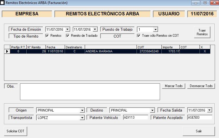 ERP Naitiva - Remitos Electronicos ARBA